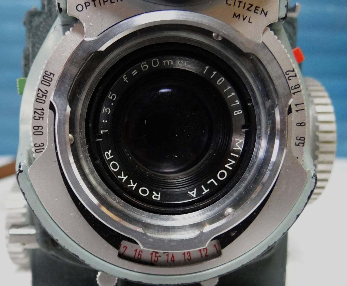 minolta ミノルタ miniflex ミニフレックス 二眼レフカメラ レンズ NIKKOR 1:3.5 f=60㎜ 中古ジャンク_画像10