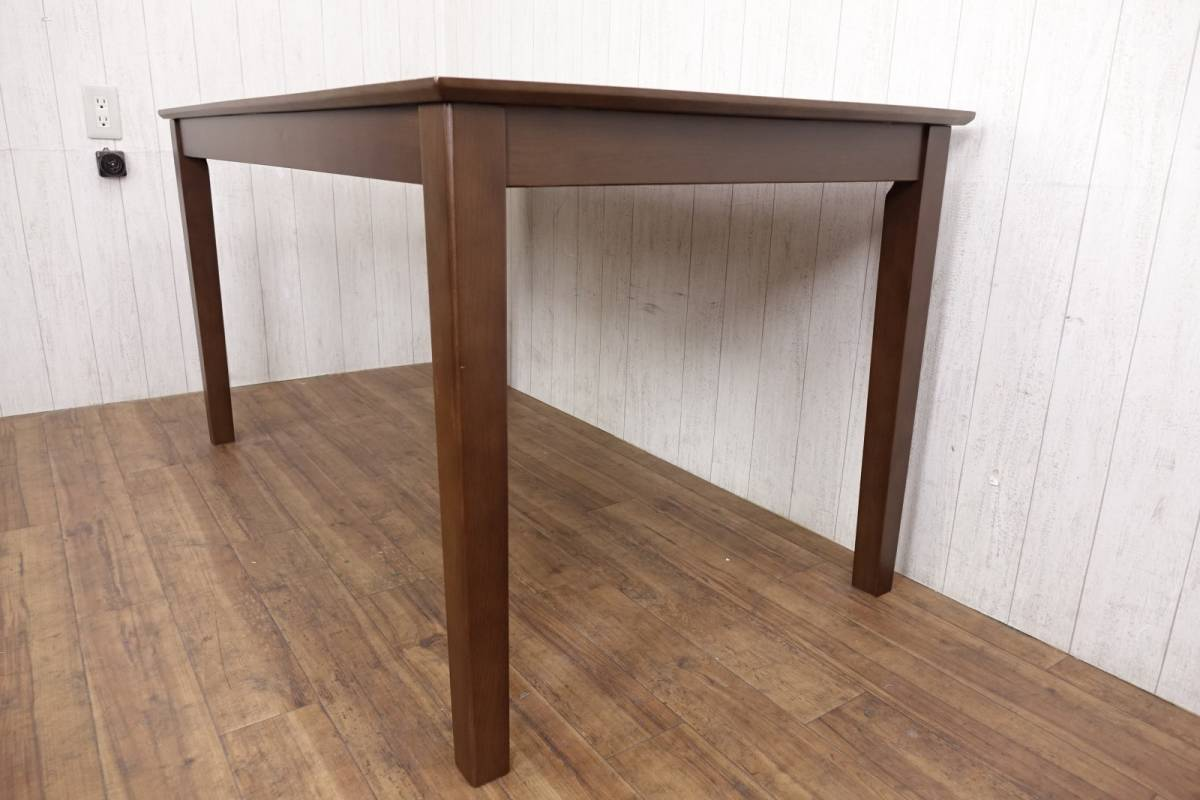 木製 ダークブラウン ◆ ダイニングテーブル [ 幅135cm 高さ69.5cm 奥行75cm ] 管理49381_画像3