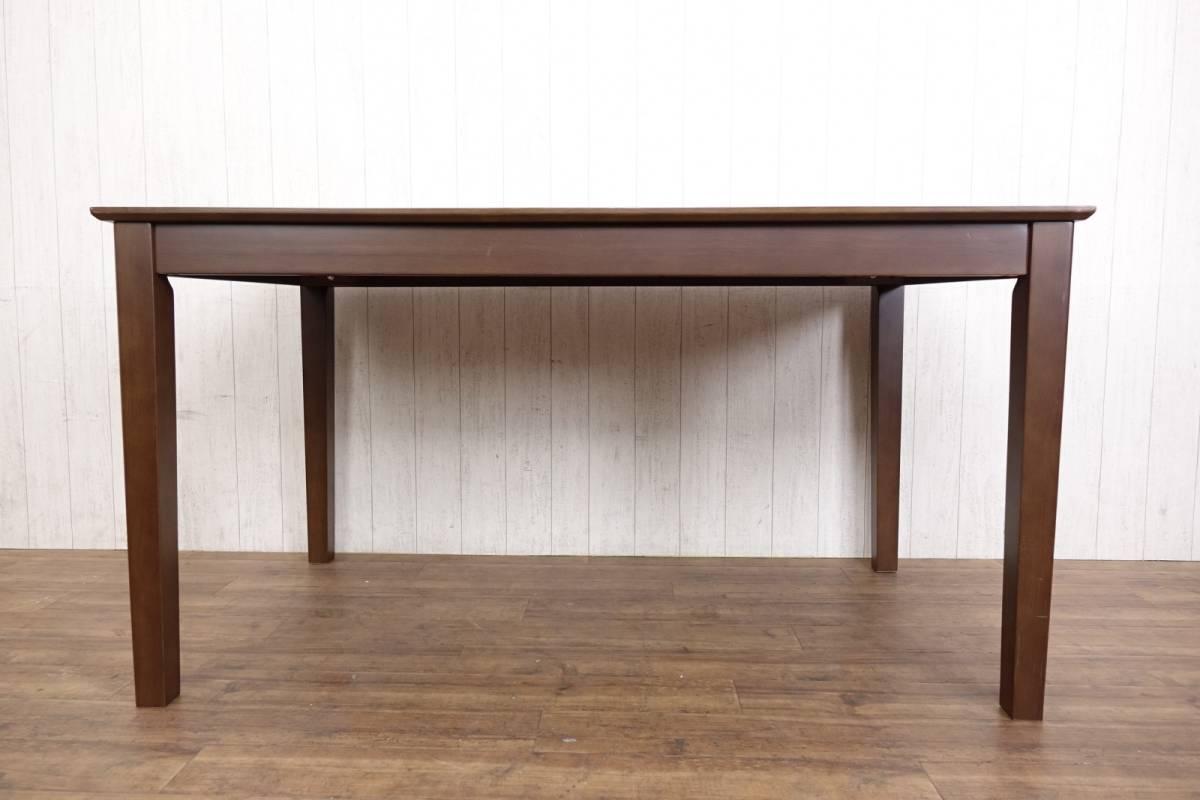 木製 ダークブラウン ◆ ダイニングテーブル [ 幅135cm 高さ69.5cm 奥行75cm ] 管理49381_画像5