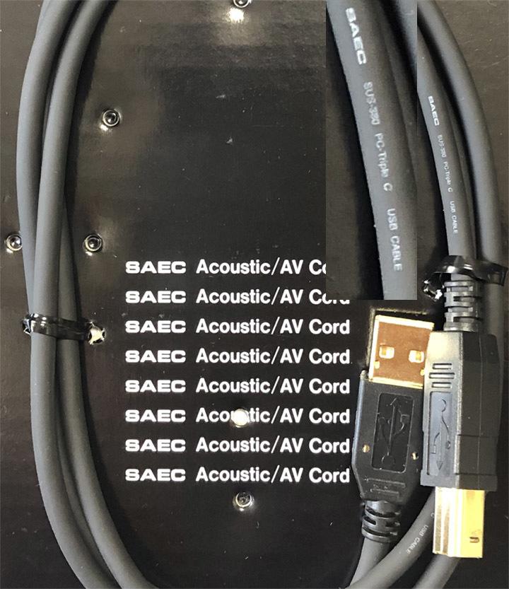 SAEC サエク PC TripleC USBケーブル SUS-380 1.2m 中古品_画像3