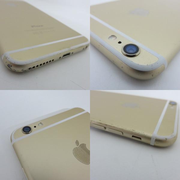 105H498★1円~Softbank apple iPhone6 PLUS MGAK2J/A Gold ゴールド 64GB 画面割れ有 利用制限○★ジャンク品_画像9
