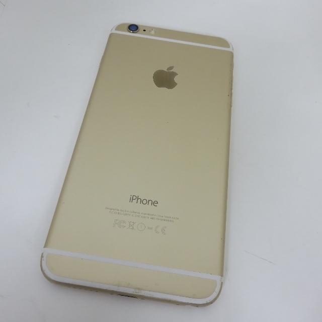 105H498★1円~Softbank apple iPhone6 PLUS MGAK2J/A Gold ゴールド 64GB 画面割れ有 利用制限○★ジャンク品_画像5