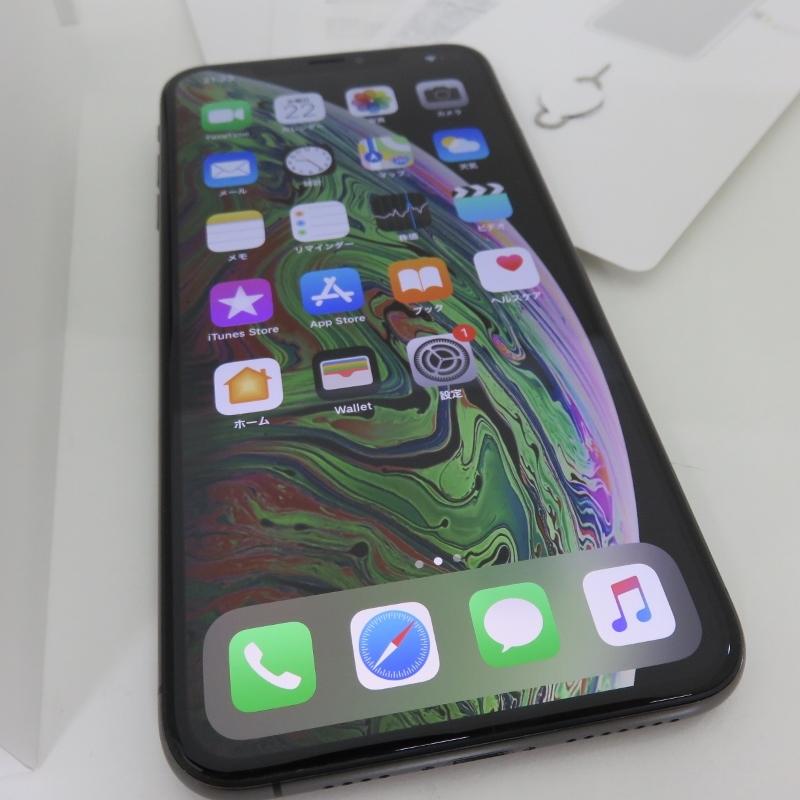 105H530★1円~au apple iPhoneXS Max MT6U2J/A A2102 Spacegray スベースグレイ 256GB★中古 美品_画像2