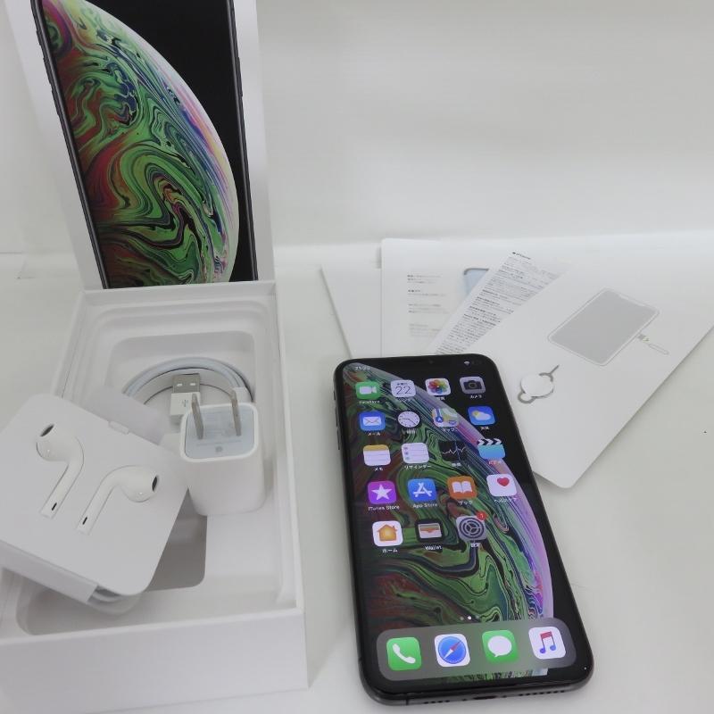 105H530★1円~au apple iPhoneXS Max MT6U2J/A A2102 Spacegray スベースグレイ 256GB★中古 美品