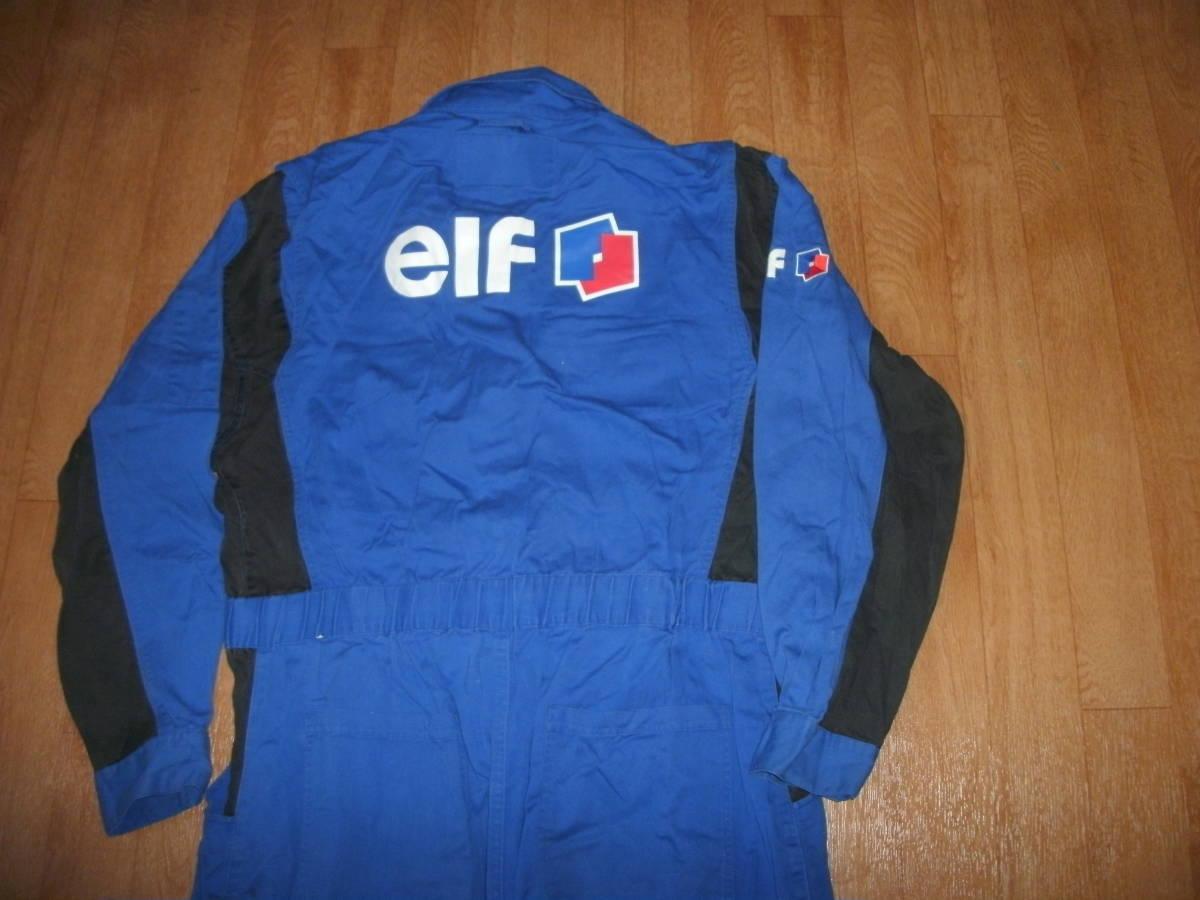希少EFL レーシングスーツタイプ ビッグロゴオフィシャルメンテナンスメカニック作業ツナギ 美中古 サイズLL