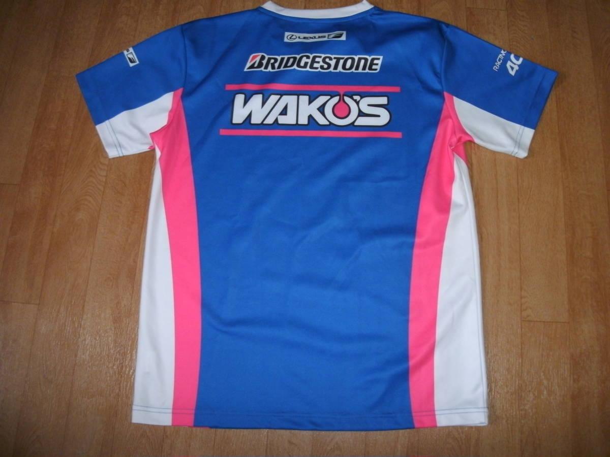 希少非売品ワコーズ 4CR チームレクサスTRD オフィシャルスポーツTシャツ 未使用 Lサイズ ブリヂストン_画像5