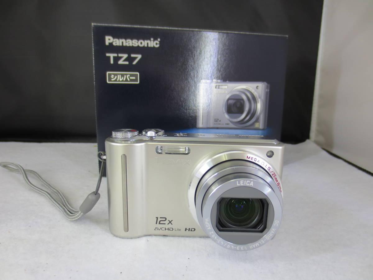 【32053】美品 Panasonic デジタルカメラ DMC-TZ7 シルバー 稼働品 箱付き