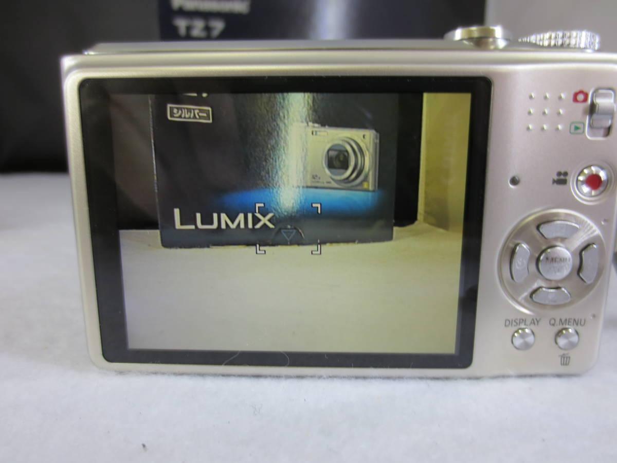 【32053】美品 Panasonic デジタルカメラ DMC-TZ7 シルバー 稼働品 箱付き_画像3