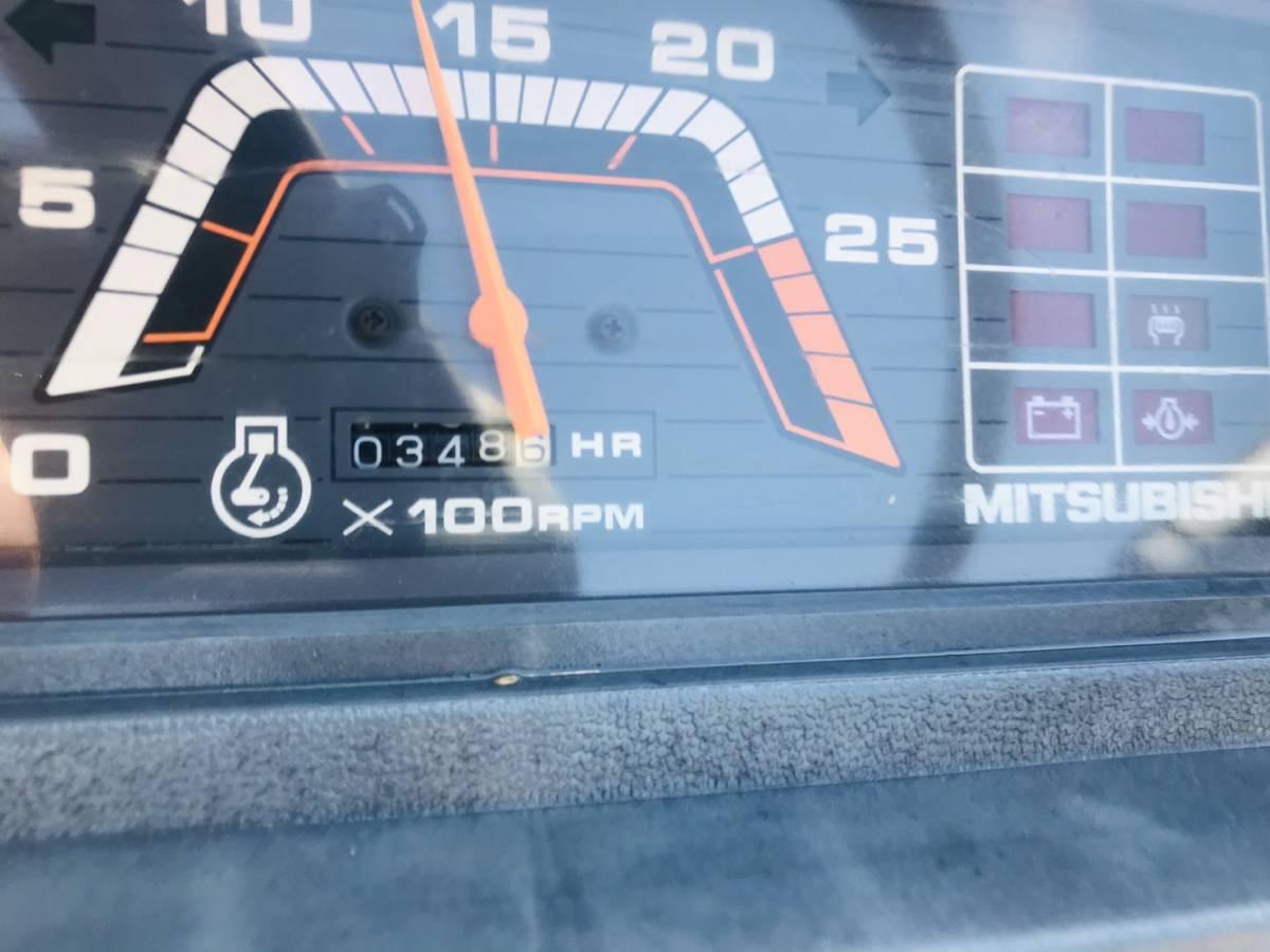 三菱 トラクター  MT14   348時間  ディーゼル 4WD 14馬力  ロータリ付き 全国陸送可 _画像9