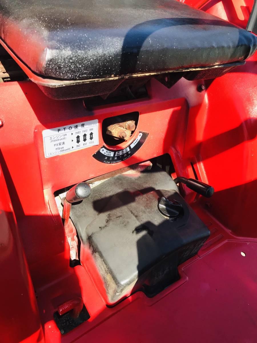 三菱 トラクター  MT14   348時間  ディーゼル 4WD 14馬力  ロータリ付き 全国陸送可 _画像7