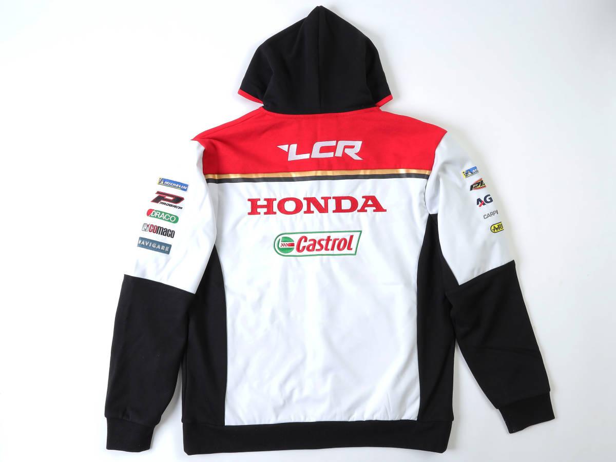正規品 【LCR HONDA】motoGP 公式パーカー Cal Crutchlow 35フードジャケット【M】クラッチ・ロー LCR Honda(検:RC213V Honda Castrol)_画像5