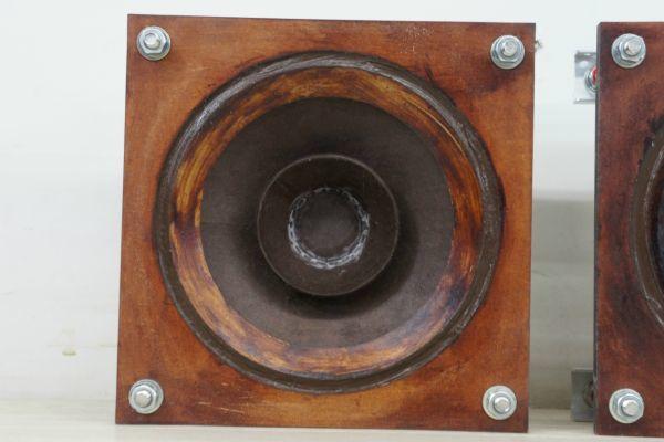 nA098410S】外磁式フィールド エキサイタ型ユニット スピーカーペア 石塚 峻 未使用_画像3