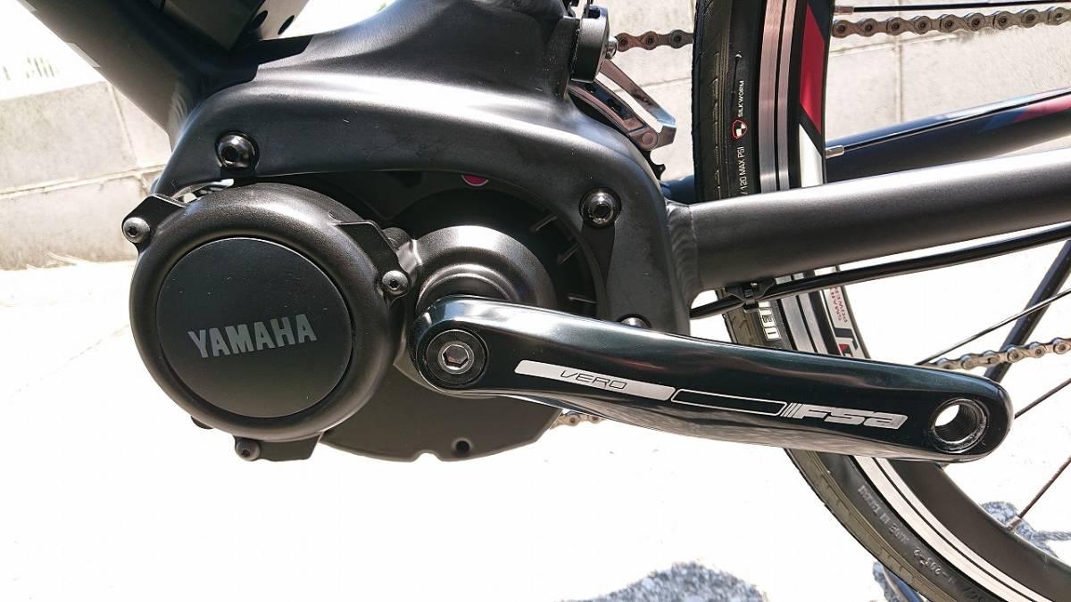 新品! 未使用車! YAMAHA ヤマハ YPJ1-R 700c 電動 ロードバイク アルミフレーム 22段変速 Mサイズ _画像8