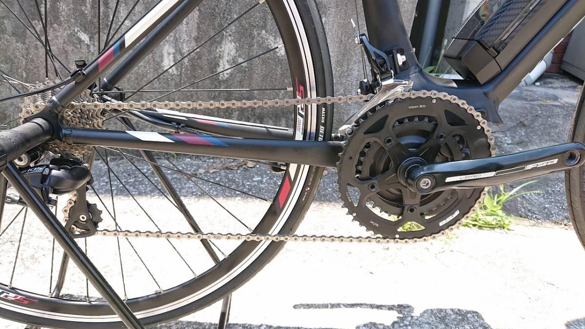 新品! 未使用車! YAMAHA ヤマハ YPJ1-R 700c 電動 ロードバイク アルミフレーム 22段変速 Mサイズ _画像6