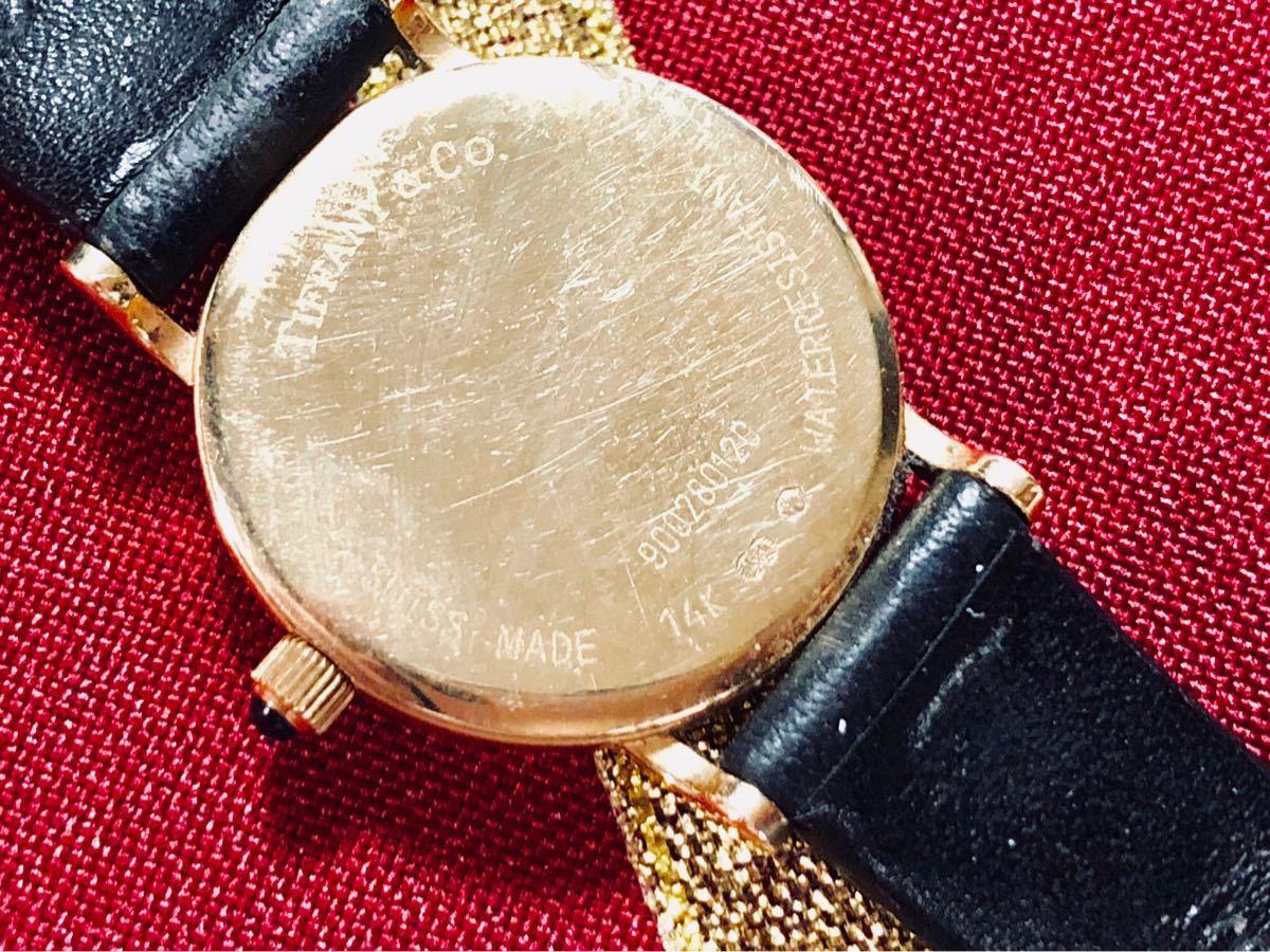 1円スタート【パーツ全て純正】◆14K無垢の美しさに一目惚れ◆ティファニー Tiffany & Co 腕時計 レディース 動作良好 ★アフターフォロー_画像7