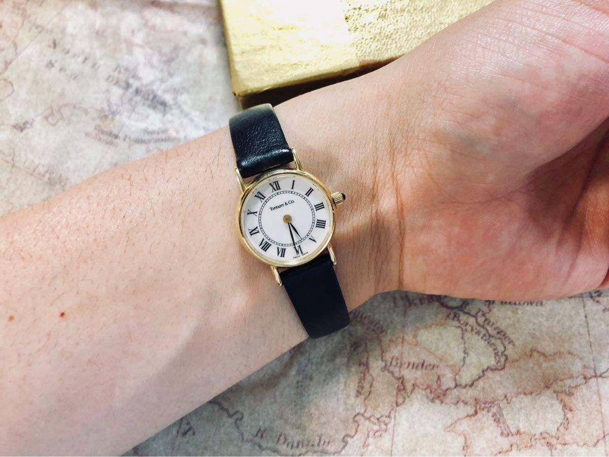 1円スタート【パーツ全て純正】◆14K無垢の美しさに一目惚れ◆ティファニー Tiffany & Co 腕時計 レディース 動作良好 ★アフターフォロー_画像9