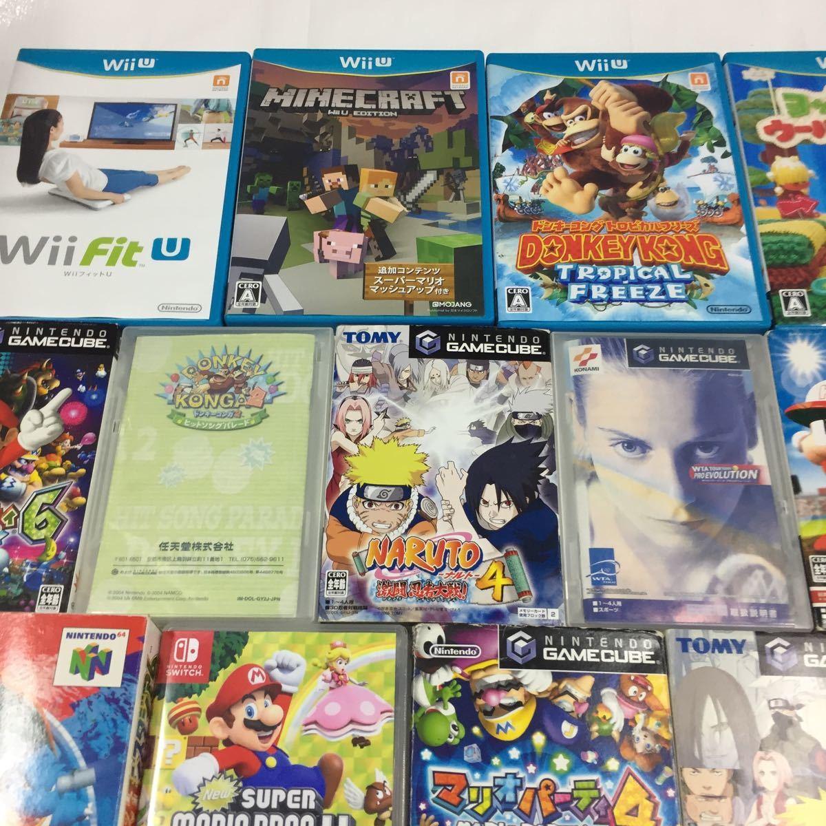 【ジャンク】Wii Wiiu ゲームボーイ ニンテンドー64 ゲームキューブ スイッチ ニンテンドーゲームソフトまとめ売り ソフト大量セット_画像2