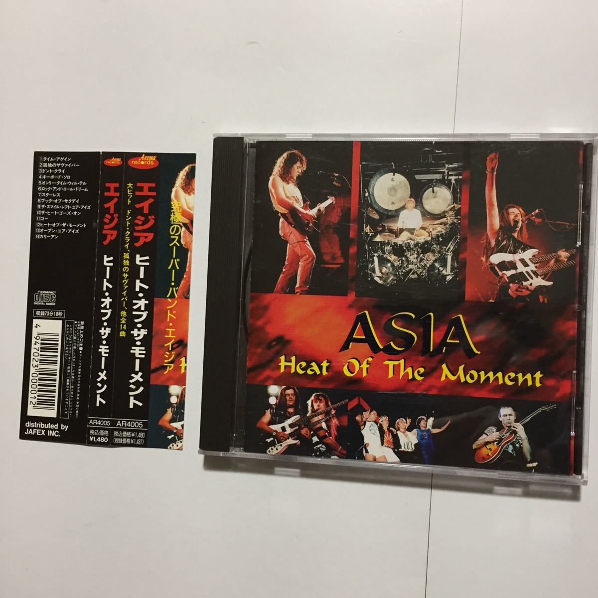 ASIA エイジア Hrat Of The Moment LIVE ライヴ Arena Records Don't Cry 並行輸入盤 全14曲収録 John Wetton Geoff Downes