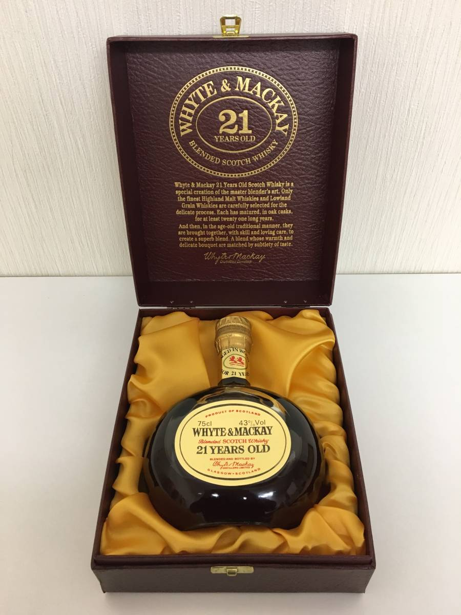 【未開栓】 WHYTE & MACKAY (ホワイト & マッカイ) 21年 750ml 43% 化粧箱有 スコッチ ウイスキー