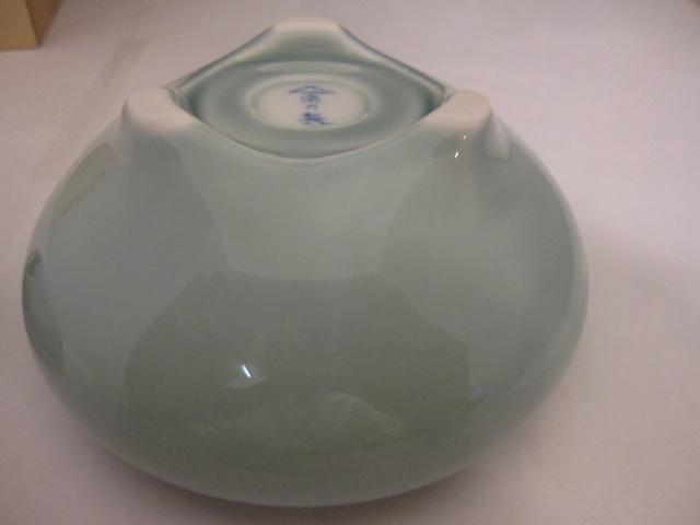 宮内庁御用達 深川製磁 3号香炉 青磁 有田焼 茶道具 共箱 未使用品_画像6
