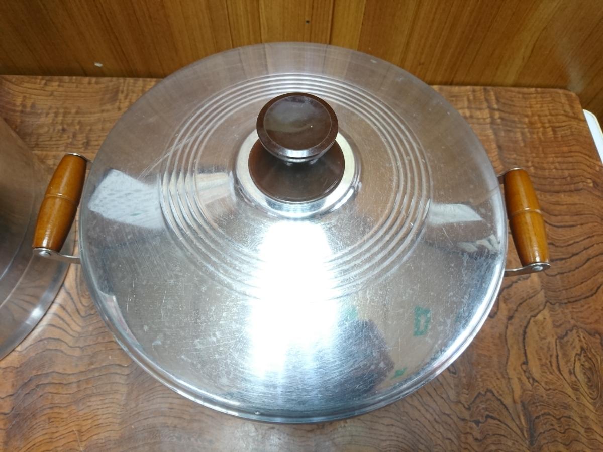 デラックス 長生セイロ 蒸し器セット 30cm 一重 ホクリクアルミ_画像7