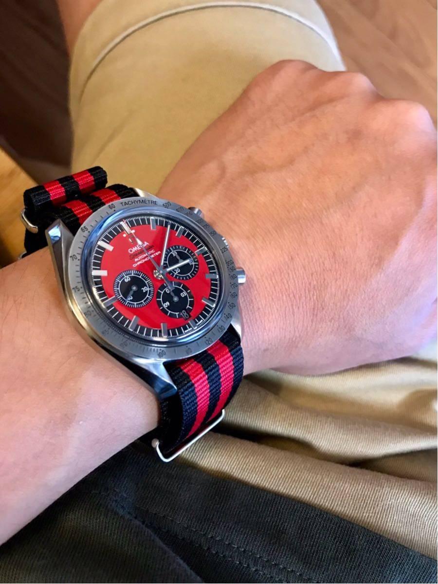 祝ドキュメンタリー映画上映決定記念 OMEGA オメガ スピードマスター シューマッハ レジェンド レッド メンズ 腕時計_画像10