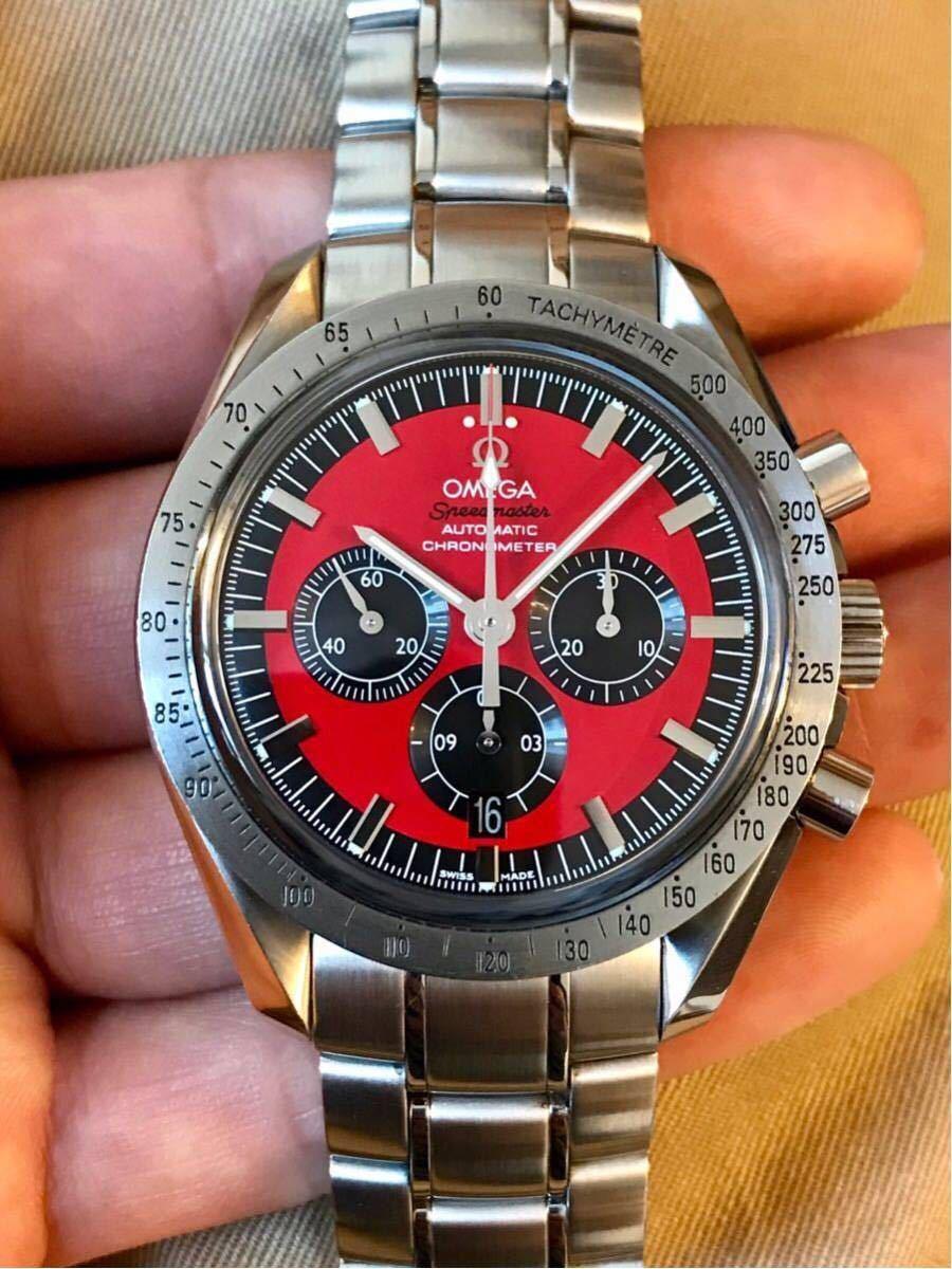 祝ドキュメンタリー映画上映決定記念 OMEGA オメガ スピードマスター シューマッハ レジェンド レッド メンズ 腕時計