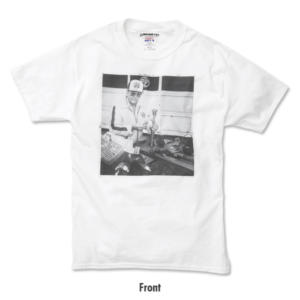 XLサイズ Dean MOON Tシャツ ムーンアイズ ホワイト 白 mooneyes HOT ROD hot rodder ホットロッド 車 バイク好きの方にぜひ レトロ_画像3