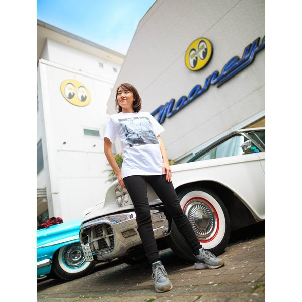 Mサイズ Dean MOON Tシャツ ムーンアイズ ホワイト 白 mooneyes HOT ROD hot rodder ホットロッド 車 バイク好きの方にぜひ レトロ_画像8