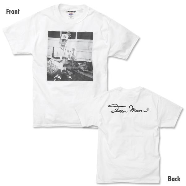 Mサイズ Dean MOON Tシャツ ムーンアイズ ホワイト 白 mooneyes HOT ROD hot rodder ホットロッド 車 バイク好きの方にぜひ レトロ_画像2