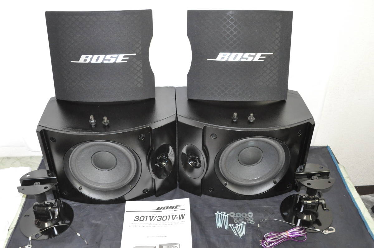 BOSE 301V スピーカー エッジ新品交換済 純正ブラケット付メンテ済エージング済動作品_画像2