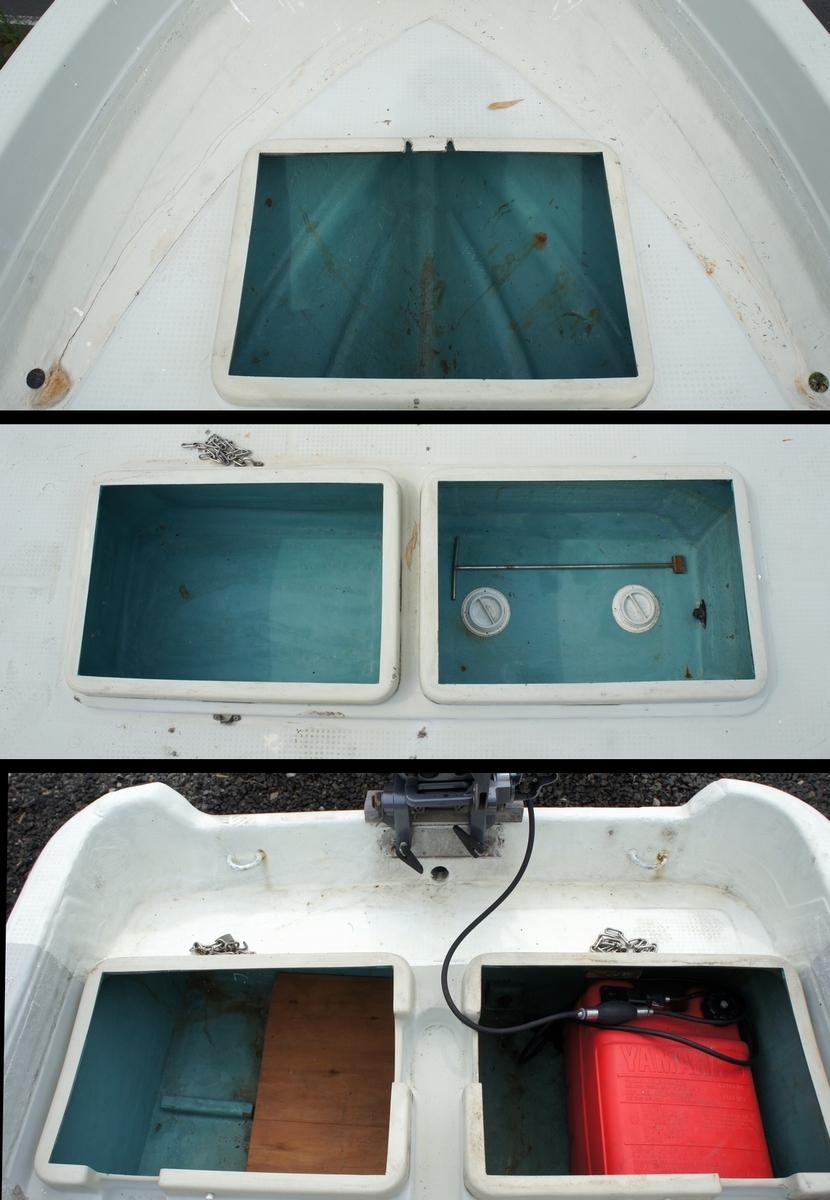 始動OK!格安!ヤマハ 和船(5m) ヤマハ 9.9馬力 船外機 バーハンドル インペラ交換済み! 船舶/和船_画像5