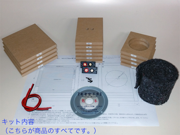 8cm汎用バスレフスBOX自作用キット(オプション付き) 576_画像2