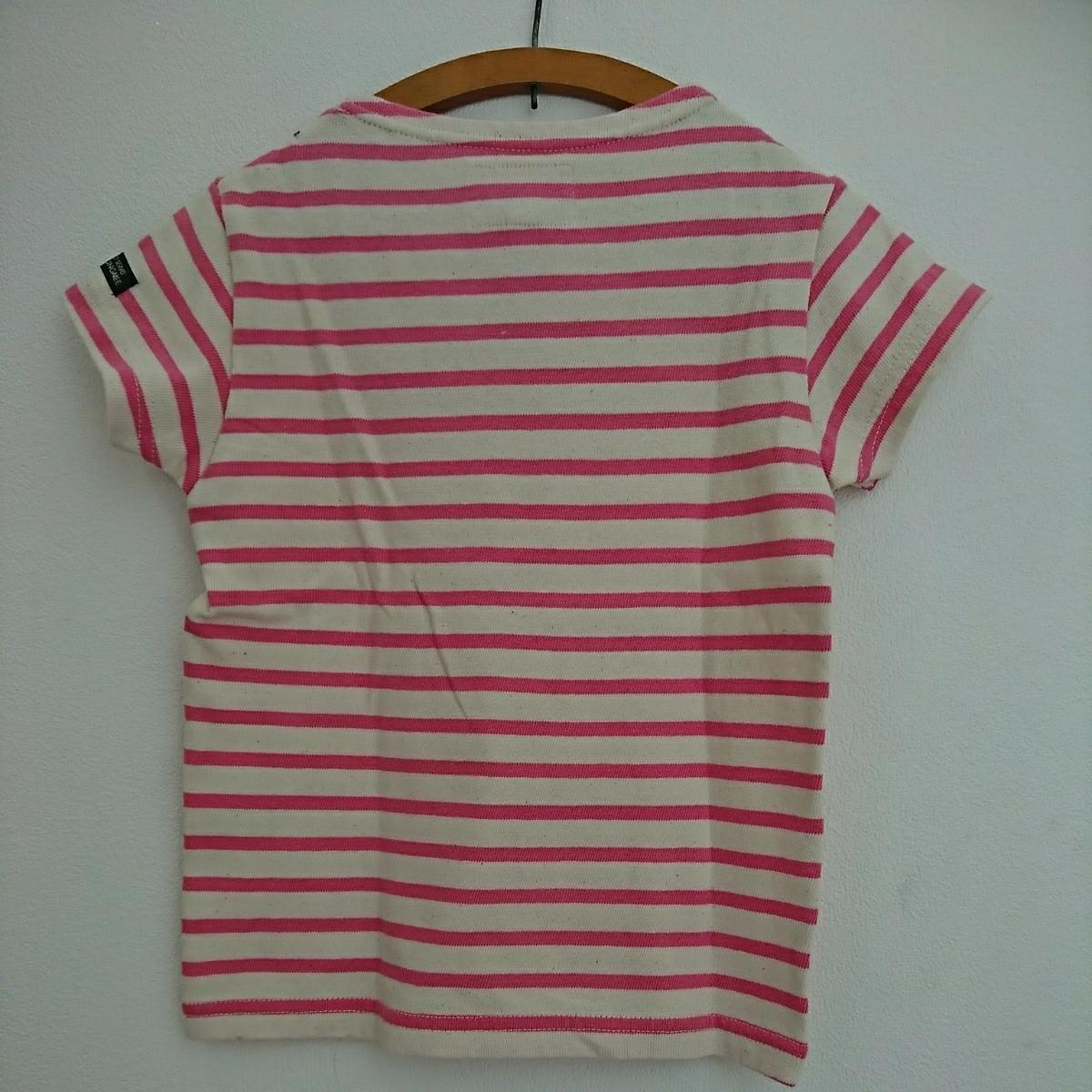 * 未使用タグ付き * DENIM DUNGAREE ボーダーTシャツ 120 ピンク FITH ゴートゥーハリウッド GO TO HOLLYWOOD デニム&ダンガリー 半袖_画像3