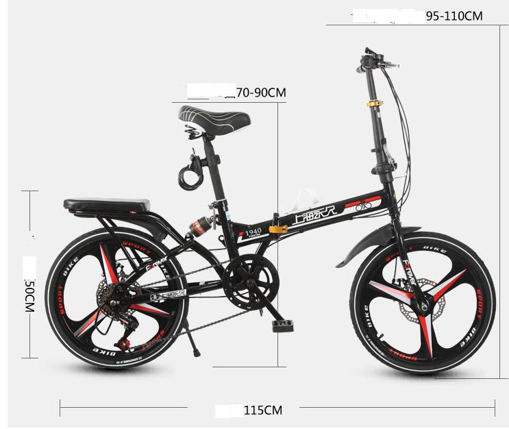 高級仕様 折りたたみ 自転車★ファットバイク マウンテンバイク★20インチ★ディスクブレーキ 通勤 便利 16kg_画像4