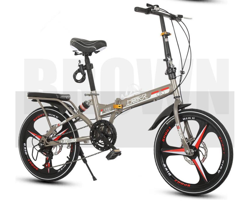 高級仕様 折りたたみ 自転車★ファットバイク マウンテンバイク★20インチ★ディスクブレーキ 通勤 便利 16kg_画像3