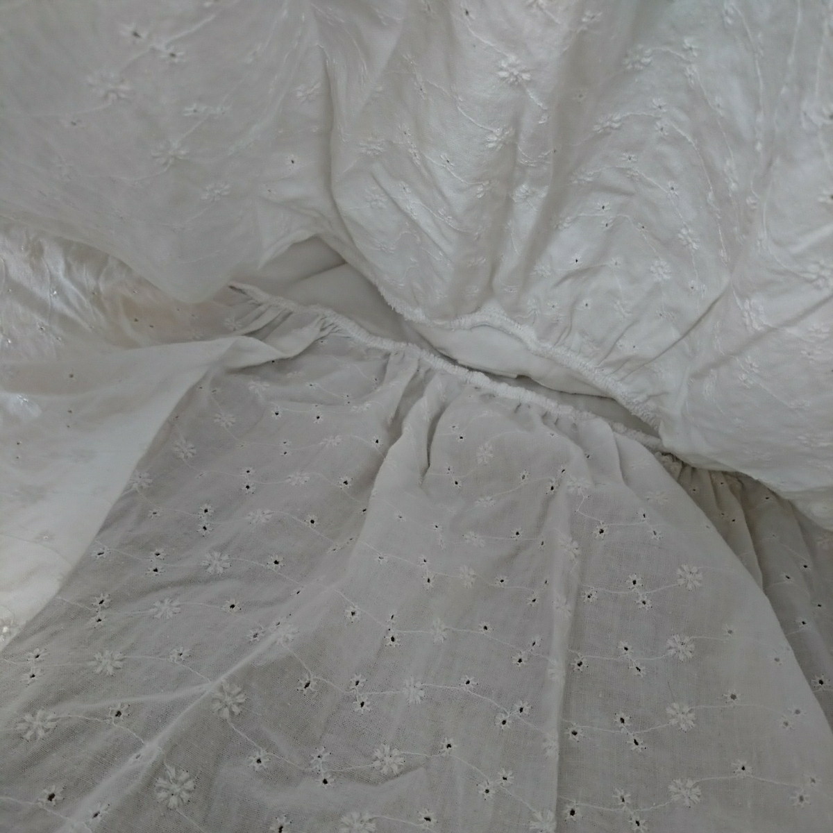 Dazzlin/ダズリン リボン付き ふわっとしたチュニック 半袖カットソー 白 S  527
