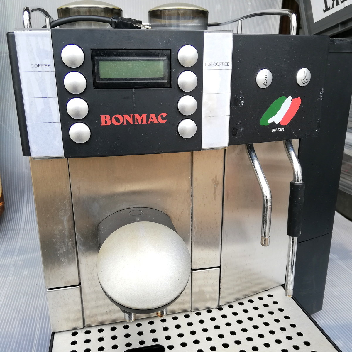 FR-1◆FRANKE フランケ Typ654 エスプレッソマシン 100V 通電確認済 コーヒーマシン / BONMAC BM-FAF1 ★引取歓迎(大阪)_画像4