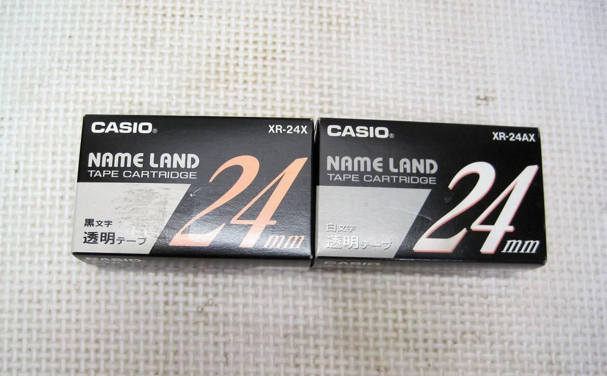 CASIO/カシオ NAME RAND ネームランド テープカートリッジ・3色・ 24mm・6個・まとめて 画像参考★新品・未使用_画像3