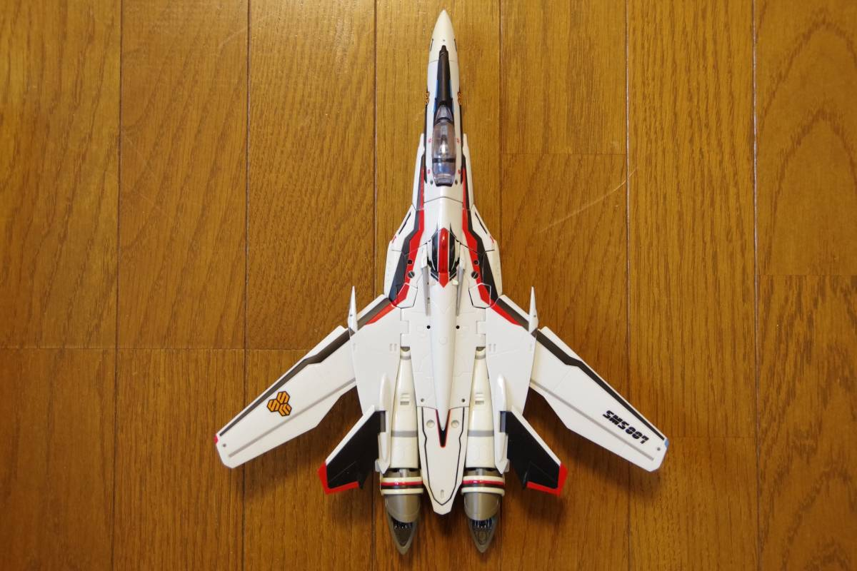 バンダイ DX超合金 マクロスF 完全変形 VF-25F スーパーメサイアバルキリー スーパーパーツ (早乙女アルト機) ジャンク_画像4