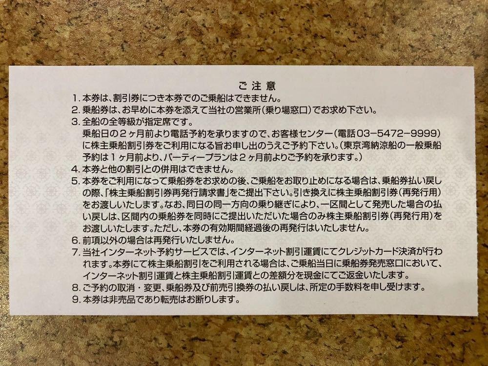 東海汽船 株主優待 株主乗船割引券 2枚セット(即決あり)_画像4