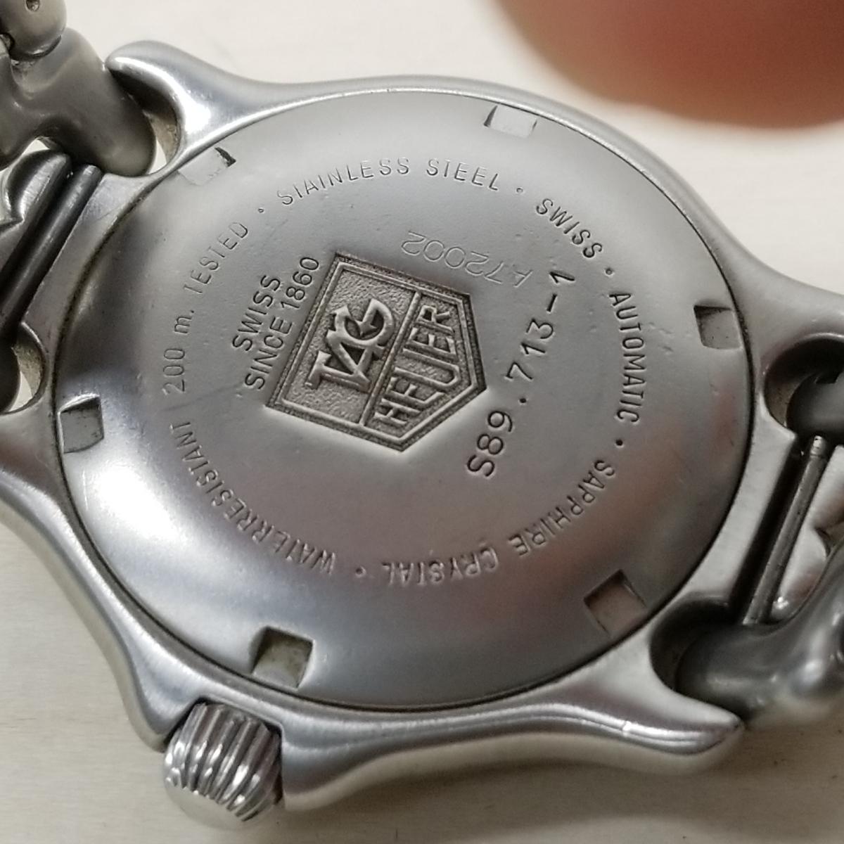 【9】TAG Heuer タグホイヤー セル 200m 自動巻き S89.713-1 稼動品_画像8