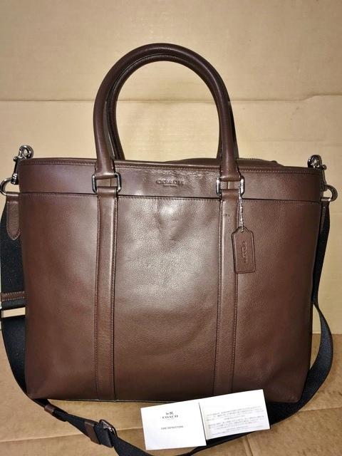 美品 約12万円 コーチ coach メンズ ブリーフケース ビジネスバッグ レザー 革 ショルダーブリーフ 紳士 バッグ bag 大容量 通勤 バッグ