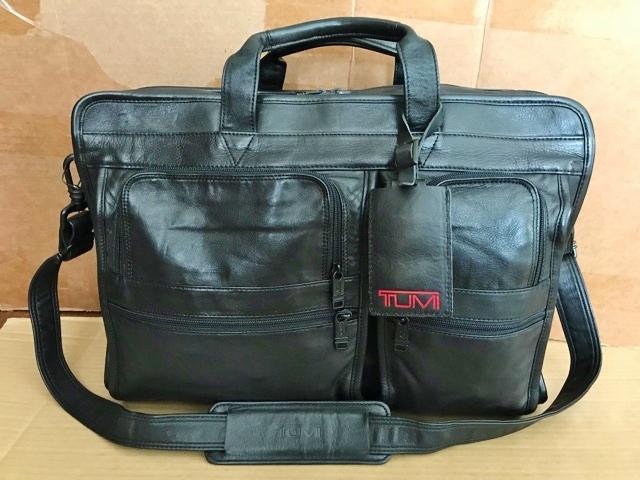良品 TUMI トゥミ テュミ 革 本革 レザー ビジネスバッグ ブリーフケース レザーバッグ ショルダーバッグ 通勤 メンズ バッグ ブラック USA