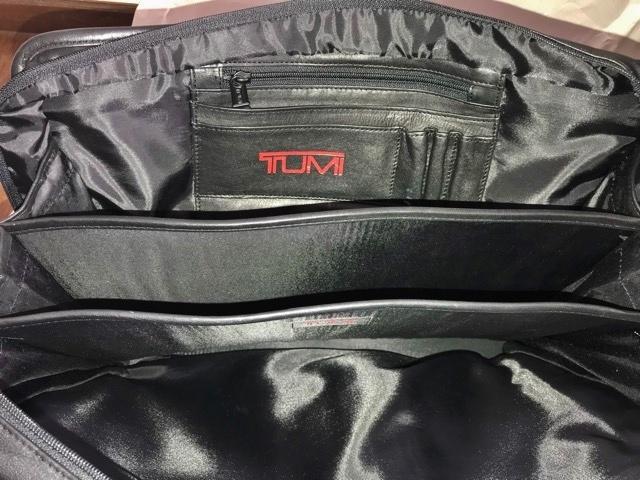 良品 TUMI トゥミ テュミ 革 本革 レザー ビジネスバッグ ブリーフケース レザーバッグ ショルダーバッグ 通勤 メンズ バッグ ブラック USA_画像2