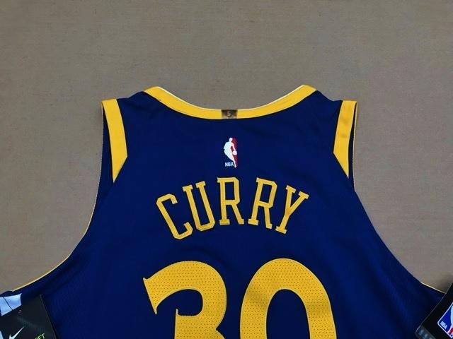 新品 NBA 約2.5万円 ナイキ NIKE ステフィン カリー curry オーセンティック 選手仕様 ユニフォーム ウォリアーズ プロカット バスケット _画像10