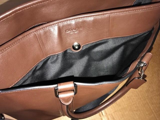 美品 約12万円 コーチ coach メンズ ブリーフケース ビジネスバッグ レザー 革 ショルダーブリーフ 紳士 バッグ bag 大容量 通勤 バッグ_画像7
