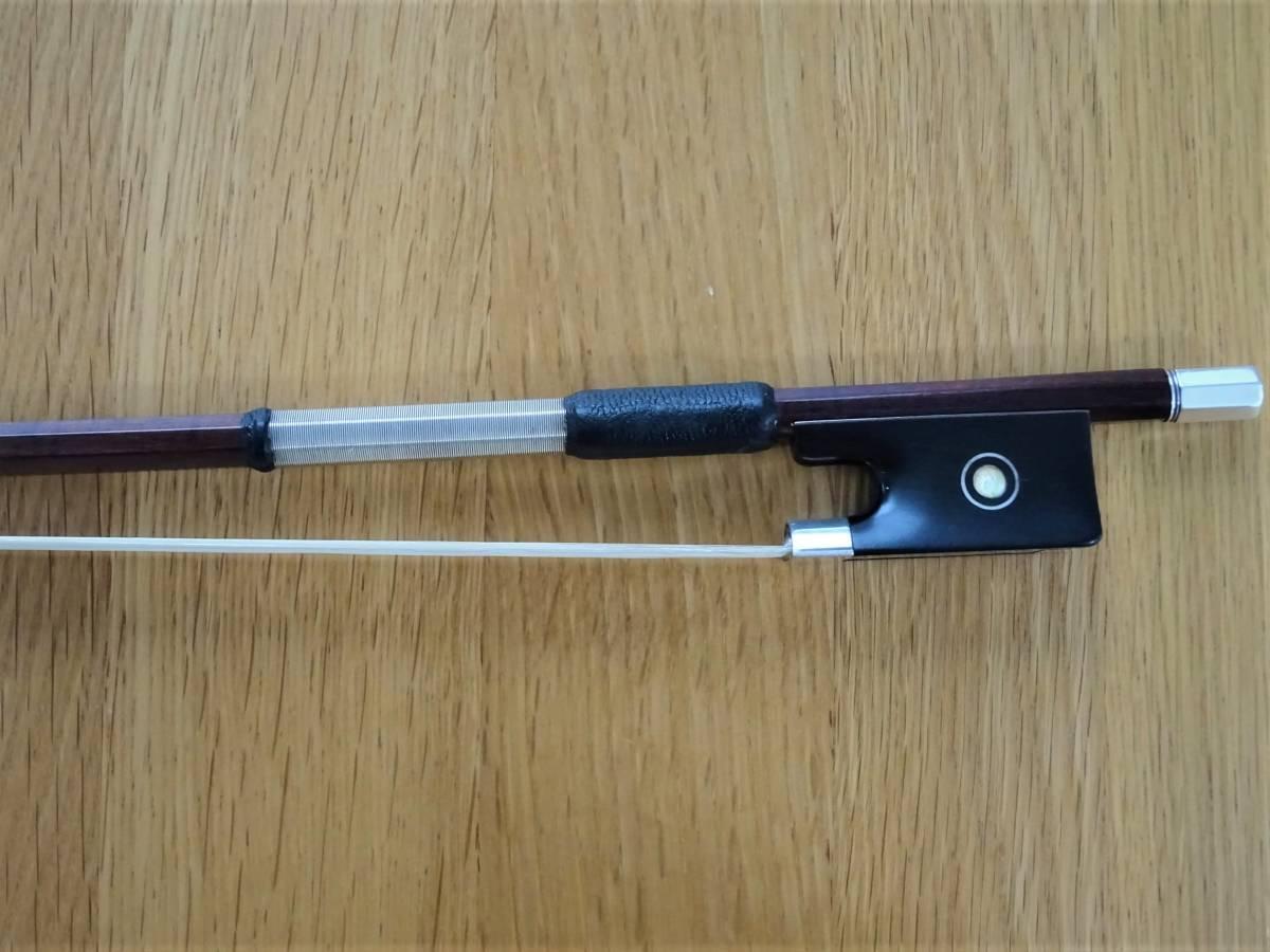バイオリン弓 4/4 1900年頃作 HART&SON 角弓 銀黒檀 銀チップ 63g スティック長731㎜   _画像4