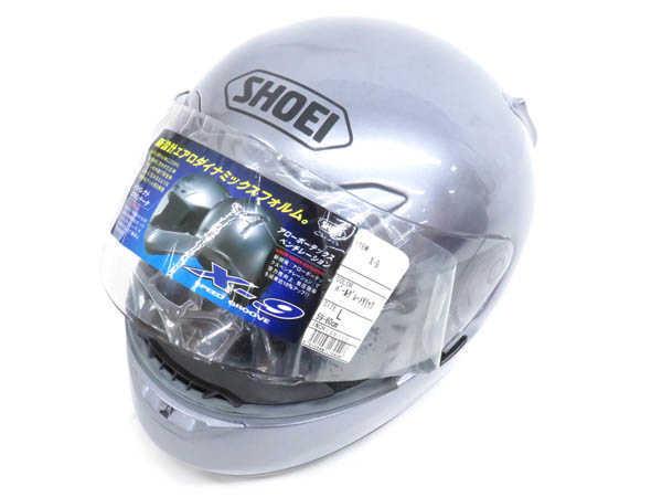 1円 未使用 ショウエイ X-9 フルフェイス ヘルメット バイク用品 sizeL パールグレーメタリックカラー HJ529_画像3