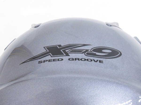 1円 未使用 ショウエイ X-9 フルフェイス ヘルメット バイク用品 sizeL パールグレーメタリックカラー HJ529_画像8
